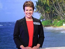 COURTESY OF WHEEL OF FORTUNE. - Stacy Singledecker won $1,000 in cash and a trip to Belize valued at $6,000 during her May 5 appearance on 'Wheel of Fortune.'