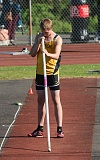 JOHN WILLIAM HOWARD - Jesse Vanderwall pauses before making an attempt during the pole vault competition at the NW Oregon Conference Track and Field championships. Vanderwall tied for first, setting a career-best mark and qualifying for the state meet.