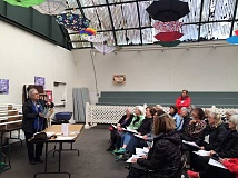 SUBMITTED PHOTO  - Members of Oswego Garden Club members are dedicated to enhancing civic beauty and aiding programs for the protection and appreciation of native flora. They also spend time each month learning more about botany. This picture was taken at a recent educational session.