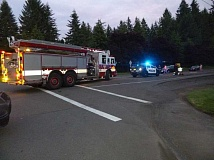 SUBMITTED PHOTO - Tualatin Police and Tualatin Valley Fire & Rescue responded to a car crash on Southwest Boones Ferry Road, Wednesday night, after a man was struck while crossing the street.