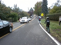 COURTESY OF SAFE ROUTES TO SCHOOLS - Families at Maplewood Elementary in Southwest Portland have no sidewalks to get to school. Safe Routes for Schools is lobbying for investments that would benefit 150,000 kids in the tri-county area.