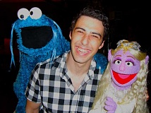SUBMITTED PHOTO - Michael Goldberg has the greatest job in the world, writing for famous Sesame Street characters like Cookie Monster and Lady Galadriel. He is a lifelong fan of the show.
