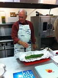 STAFF PHOTOS: BARB RANDALL - Mike OBryant, former executive director of the Scandinavian Heritage Foundation, taught a class on making gravlax, a Norse specialty food. The process is simple, and the results are delicious, according to Barb Randall.