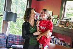 TRIBUNE PHOTO: JONATHAN HOUSE - Multnomah County Chair Deborah Kafoury and her daughter, Anna.