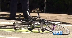COURTESY OF KOIN 6 NEWS - A bike rider's death Wednesday afternoon, May 27, in Southeast Portland is prompting other bicyclists to protest and push for a plan to make Portland streets safer.