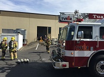 TUALATIN VALLEY FIRE & RESCUE - Firefighters responded to Pacific Natural Foods in Tualatin early Sunday.