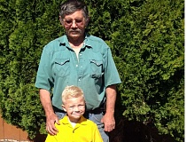 LEXIE TOMBLESON - Blake Ridgway poses for a photo with his great-grandfather Buck Harmon. Ridgway chose to do a cleanup project along Ochoco Creek recently and asked Harmon for some help.