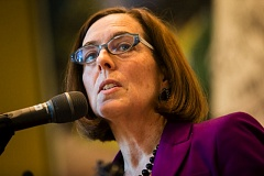 TRIBUNE FILE PHOTO - Gov. Kate Brown says a whistleblower should not face charges for leaking nearly 6,000 of former Gov. John Kitzhaber's emails to a Portland newspaper.