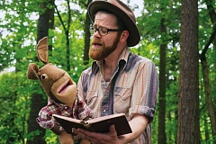 COURTESY PHOTO - Red Yarns musical puppet show gives new life to Americana folklore. Red Yarn, aka Andy Furgeson, has released Deep Woods Revival, the follow-up to his debut album.
