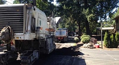 SUBMITTED PHOTO - Paving work will begin Sunday night in downtown Lake Oswego and continue through the week.