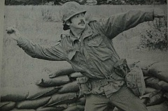ARCHIVE PHOTO - The caption to this 1975 photo read: BOMBS AWAY-DUCK OR NO SUPPER- Sgt. Drew Mason, Estacada, throws a practive grenade in the field at Camp Rilea, Warrenton, where his unit, Oregon Citys Co A [-], 1st Batallion, 162nd Infantry, Oregon Army National Guard, is currently undergoing its two weeks of annual field training. Sgt. Mason will return to Estacada June 28.