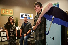 TIMES PHOTO: JAIME VALDEZ - Zach Reynholds, an incoming senior at Tualatin High School, has had help with his  acting career from Anneliese Chapman, acting coach, and Jason Jeffords, founder of Puddletown Talent.