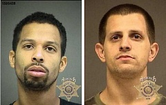 Bowden, left, and Westfall, right, were arrested June 25 after allegedly robbing a man with a gun on Bull Mountain.