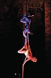 COURTESY: A-WOL DANCE COLLECTIVE - The A-WOL Dance Collective will put on its Art in the Dark event, which includes aerial dance in the trees at night, on two weekends in August.