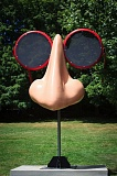 COURTESY: GALLERY WITHOUT WALLS - Gallery Without Walles tour-goers are encouraged to take a selfie in front of the sculpture What Does the Nose Know?by artist Ron Simmer. Then, post it to the Art Councils Facebook page; the most creative selfie will be announced Aug. 30.