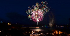 COURTESY OF THE CITY OF ST. HELENS - Fireworks light up the night over the Columbia River, during a previous Independence Day celebration in St. Helens.