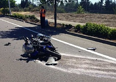 SUBMITTED PHOTO - A man died Thursday after losing control of his motorcycle and crashing on Southwest 124th Avenue in Tualatin.