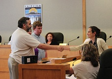 OUTLOOK PHOTO: KATY SWORD - Ed Bejarana was sworn in Wednesday, July 1, as position 2 councilor for the Fairview City Council.