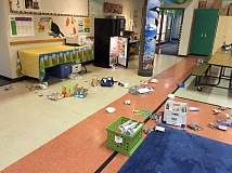 TIGARD POLICE - Vandals made a mess of the Durham Elementary School cafeteria after breaking in on June 28, Tigard Police say.