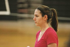 PHIL HAWKINS - New head coach Alexa Powell is looking to add consistency to the North Marion volleyball program after becoming the third coach in as many years for the Huskies.