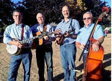 SUBMITTED - Singing the Good Word - Local bluegrass band Jericho Road will perform worship service at West Chehalem Friends Church at 10:45 a.m. Sunday. From left to right: Robyn Stutzman, former member Jon Cooper (deceased), Scot Cook and West Chehalem member Gary Fendall. Not pictured: Eli Raber and Steve Allen.