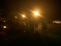 CONTRIBUTED PHOTO: MULTNOMAH COUNTY SHERIFF'S OFFICE - The 15-year-old hiker was reunited with her family at 12:15 a.m. Tuesday, July 21.