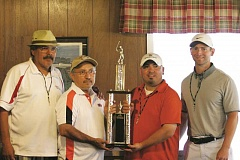 PHIL HAWKINS - Saturday's tournament champion: In It To Win It, (from left) Tony Suarez, Alejandro Vazquez, Abel Garcia and Stephen Arnst.