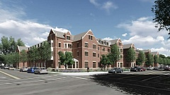 COURTESY OF UP - A rendering shows the new residence hall planned for the University of Portland campus.