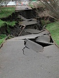 TRIBUNE FILE PHOTO - A collapsed walking path in Olympia, Wash., shows damage from the 2001 Nisqually earthquake. Oregon's Department of Geology and Mineral Industries is facing an uncertain future as lawmakers try to decide its mission and fate.