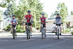 TIMES PHOTO: JONATHAN HOUSE - Team Tegan - Tualatin's Johnson family (from left) Connor, Brian, Teagan and Mick - helped publicize and support the Tour de Cure to benefit diabetes research and support.