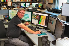 DAVID F. ASHTON - National Weather Service Hydrologist Andy Bryant, at the National Weather Service facility near the Portland Airport, says he sees more hot weather ahead this summer.