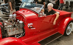 DAVID F. ASHTON - A highlight of the show was the car brought by The Hot Rod Lady - Joyce Johnson - who showed off her 1929 Model A roadster pickup, the Cherry Bomb.