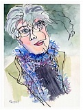 SUBMITTED ARTWORK - Kaye Synoground painted this self-portrait.