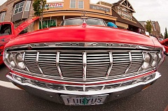 OUTLOOK PHOTO: JOSH KULLA - The Plymouth Fury was a well-represented model Sunday at the Troutdale Kiwanis Cruise In held in downtown Troutdale.