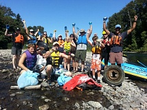 PHOTO BY CHRIS ORTOLANO, COURTESY CLACKAMAS RIVER BASIN COUNCIL  - Volunteers at past Clackamas River cleanup.