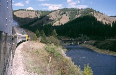 SCOTT STAATS SPECIAL TO THE CENTRAL OREGONIAN - The Eagle Cap Excursion Train runs along the Wallowa River.