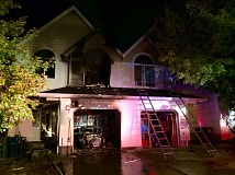 TUALATIN VALLEY FIRE & RESCUE - An explosion and fire heavy damaged this duplix in Aloha late Saturday.