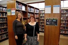 POST PHOTO: KYLIE WRAY - Lauren Gunderson of Gladstone Library and Sandy Librarys Sarah McIntyre are collaborating for the next six weeks through an intergovernmental agreement.