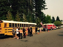 CONTRIBUTED PHOTO: EMILIO INC. - Fill the Bus literally grew overnight, expanding from the hopes of Pamela Botts to an event with more than 45 volunteers, on Sunday, Aug. 23.