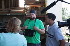 PHOTO COURTESY: CCC - Clackamas Community College Digital Media Communications students Nick Hadley and Rico Starr on a film shoot.