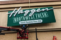 PAMPLIN MEDIA GROUP FILE PHOTO - Haggen expanded rapidly over the past year, purchasing some 146 stores from Albertsons and Safeway throughout the West Coast in order to ease a merger between those two companies. But Albertsons and Haggen are now suing one another over alleged wrongdoings during the deal.