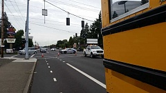 OSP - Police direct southbound McLoughlin Boulevard traffic around the scene on the crash.