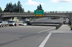SPOKESMAN PHOTO: JAKE BARTMAN - Two concrete bridges, built in 1999, carry Interstate 5 over Wilsonville Road. Although they may not need maintenance in the next five years, other bridges in the city will.