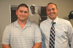 ESTACADA NEWS PHOTO: EMILY LINDSTRAND - Estacada High School Principal Ryan Carpenter and Science Department Chair Kevin Kirchhofer are excited about new program.