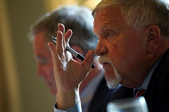 PORTLAND TRIBUNE FILE PHOTO - Metro President Tom Hughes spoke before the City Club on Sept. 25.