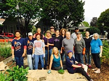 COURTESY PORTLAND PARKS FOUNDATION  - Worker bees at Water Gibbs Community Garden in Southwest Portland were among 1,300 volunteers who put in sweat equity at last year's Parke Diem. Forty-five projects are on tap this year.