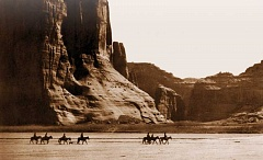PHOTO BY EDWARD S. CURTIS - A photo of Monument Valley by Edward Curtis.