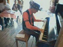 SUBMITTED PHOTO - Keith Taylor plays ragtime at the Sage Saloon in Shaniko.