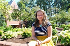 NEWS-TIMES PHOTO: MICHAEL SPROLES - Chelsea Hill, an anthropoligy major at Pacific University in Forest Grove, is organizing a one-day workshop about bystander intervention -- how students can help prevent sexual assault on campus -- as part of her senior project.