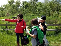 COURTESY PHOTOS - Laura Harley took students out and about last year into the great outdoors.